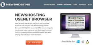 Newshosting Usenet browser