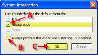 Thunderbird System Integration